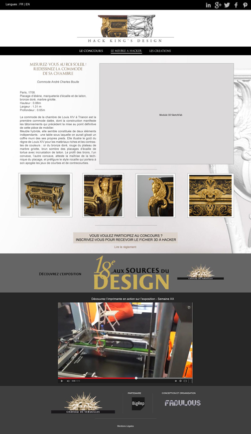 Maquette page présentation