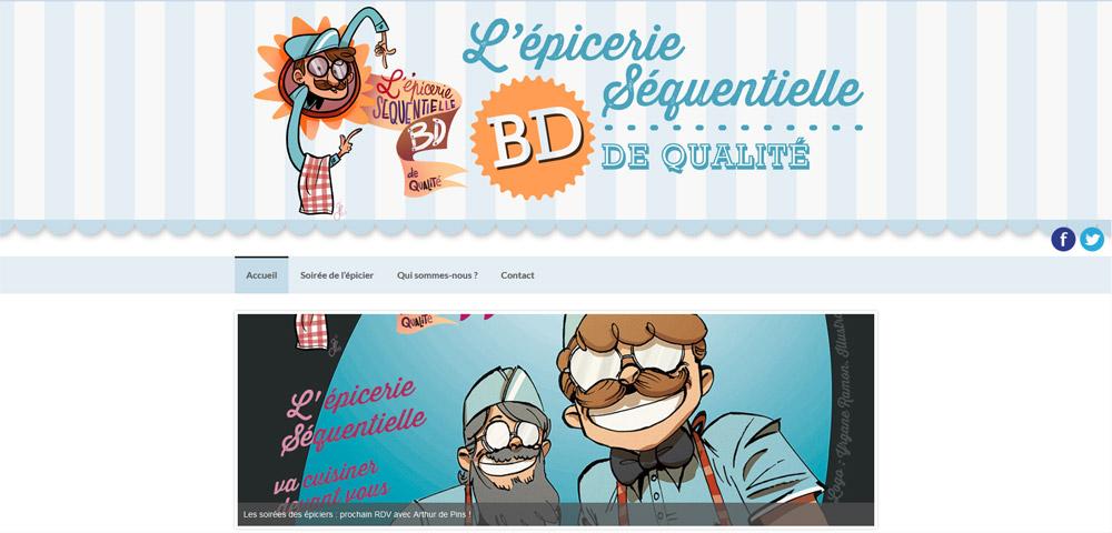 site web épicerie séquentielle - 2014