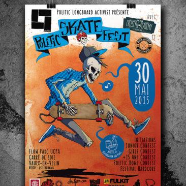 Affiche Politic Skate Fest 2015