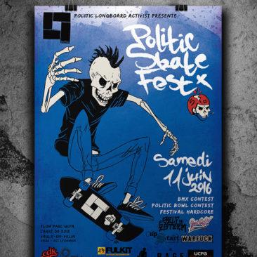 Affiche Politic Skate Fest 2016